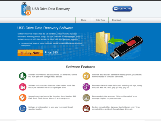 USB drive data recovery tool recovers digital camera multimedia memory card lost files folders