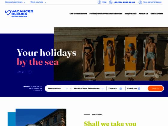 France et Etranger avec Vacances Bleues