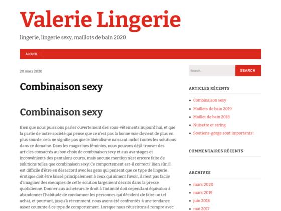 Valerie-Lingerie - Toutes les tailles a prix unique