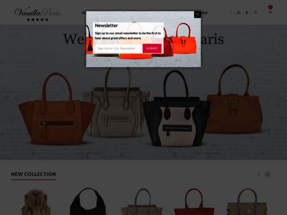 Vanilla paris : Sac à main de mode pour femme