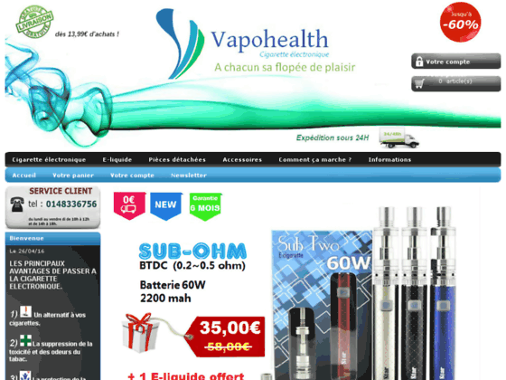 vente cigarette electronique