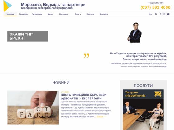 Скриншот сайта vedmid.org