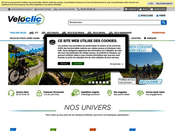 Vélos neufs et occasions – boutique veloclic.com
