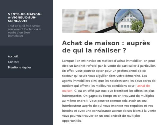 VENTE DE MAISON A VIGNEUX SUR SEINE : Vente d'une maison de 200m² en Ile de France.