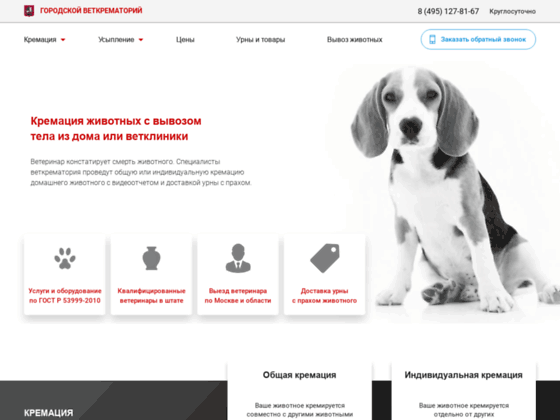 Скриншот сайта vetritual.moscow