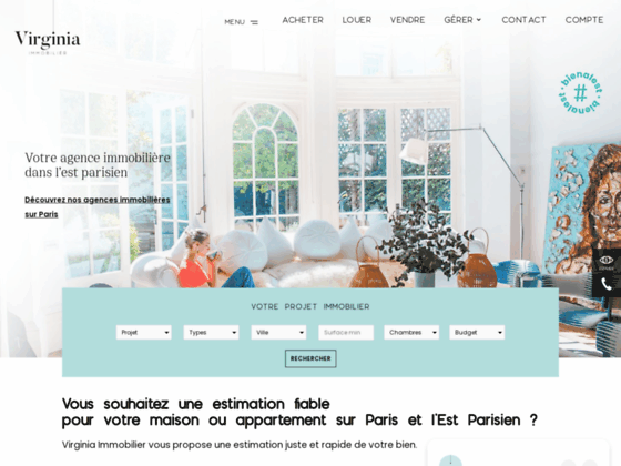 Agence immobiliere Virginia Immobilier sur Charent