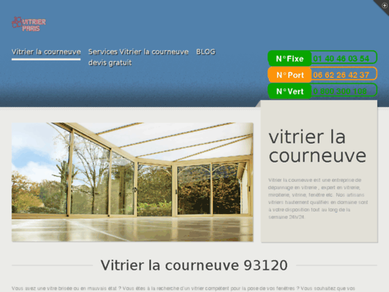 vitrier la courneuve