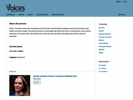 Photo image Voices : Berceuses et chansonnettes