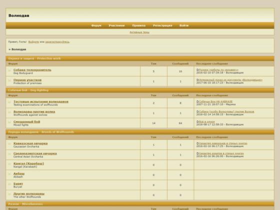 Скриншот сайта volkodav.bbnow.ru