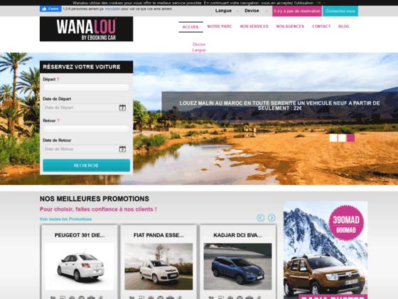 Wanalou : Agence location de voiture au Maroc