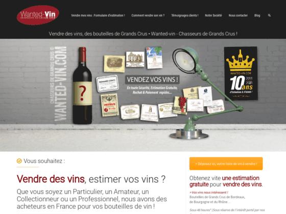 www.wanted-vin.com – Chasseurs de Grands Crus. Vendre mes vins achat vente