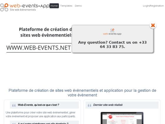 Web-Events : Création gratuite de sites Internet
