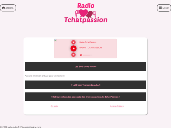 Vivez l'ambiance avec le top des web radios: chat land free web radio Player.