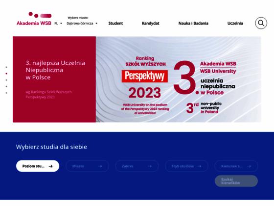 Скриншот сайта wsb.edu.pl