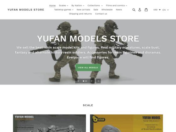 Скриншот сайта yufan-models.store
