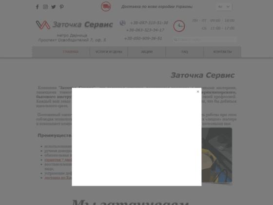 Скриншот сайта www.zatochka.services