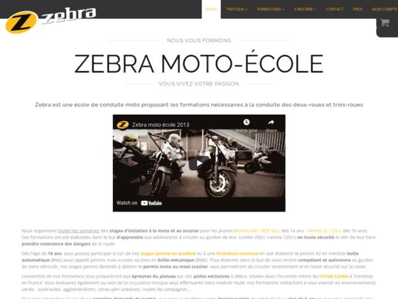 Zebra, école de conduite pour permis moto