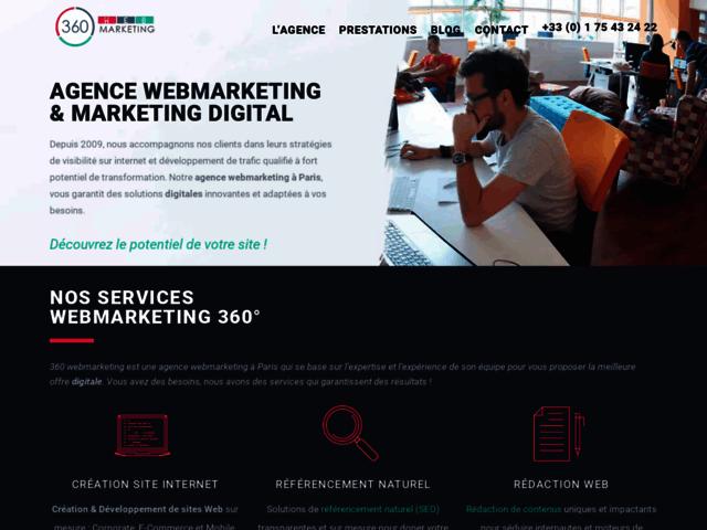 Agence referencement naturel Paris - 360 WEBMARKETING