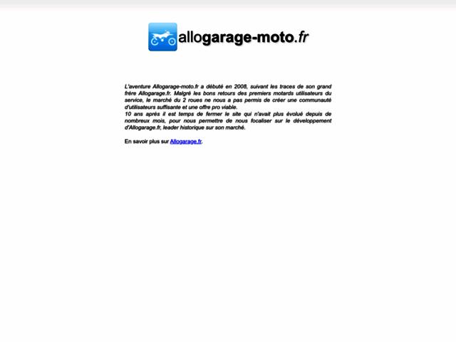 Capture d'écran du site allogarage-moto.fr