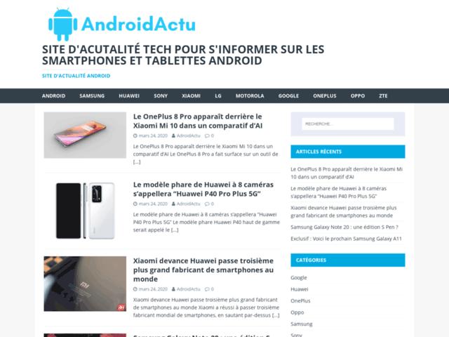 Androidactu, l'actu High-Tech en direct de la planète Android