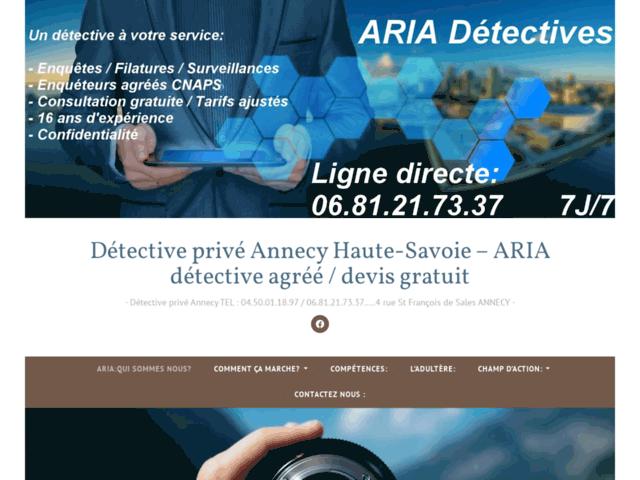 Détective privé Annecy Haute-Savoie – ARIA