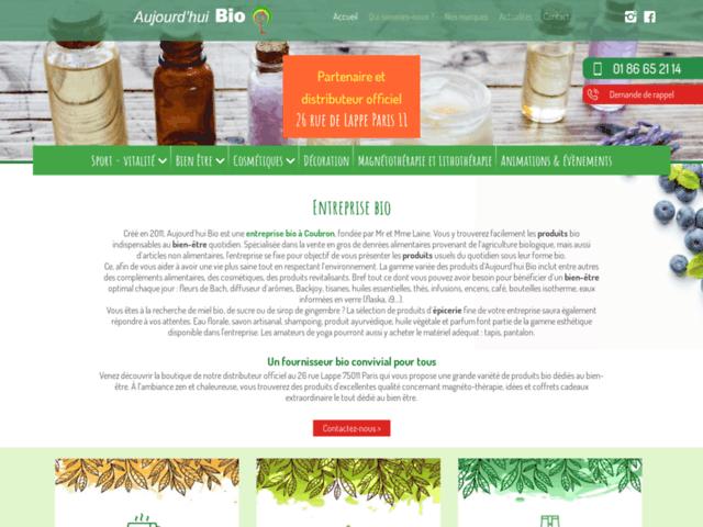 Aujourd'hui Bio, votre boutique et épicerie bio à Paris