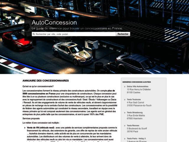 Page d'accueil Auto Concession