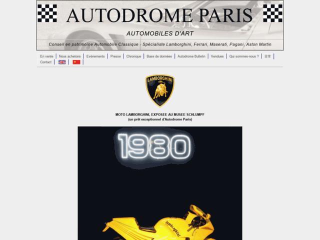 Capture d'écran du site autodrome.fr