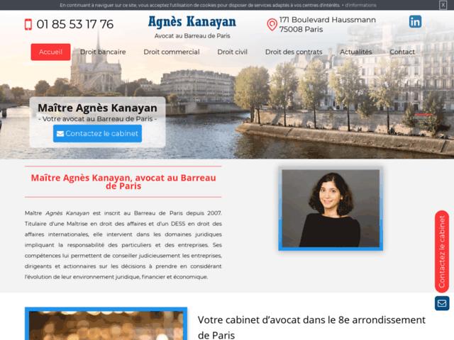 Visiter un avocat à Paris 8 - Maître Agnès Kanayan