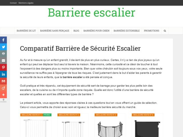 Comparatif barrière de sécurité escalier