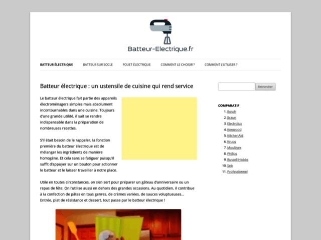 Batteur électrique : informations et conseils