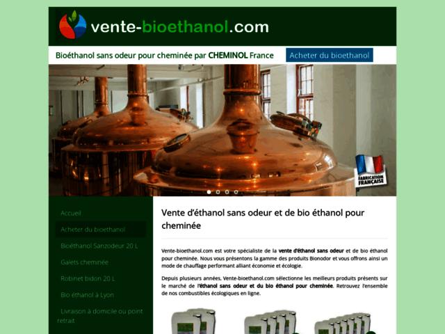 Vente-bioethanol.com, distributeur de bio éthanol pour cheminée