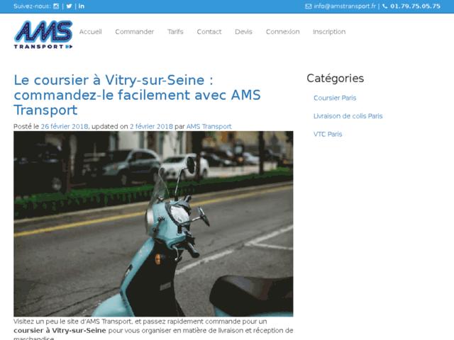 AMS Transport : la commande d'un coursier à Paris