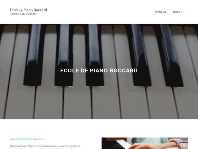 École de piano Boccard (Meyrin, Genève)
