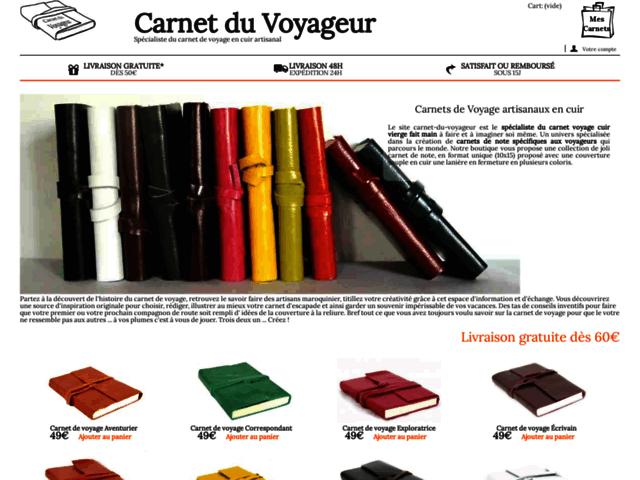 Carnet cuir du Voyageur