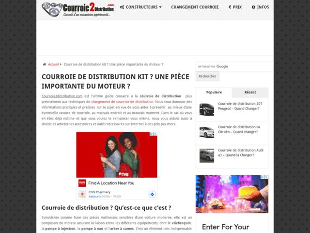 Courroie de distribution : Infos sur son changement