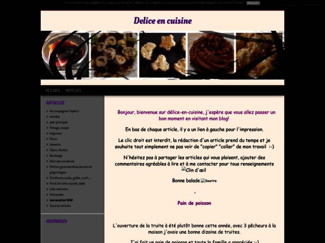 Delice en cuisine