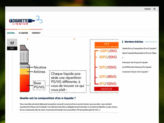 E-Cigarette-Liquide.com - e-cigarette electronique