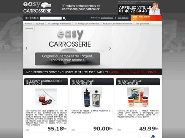 Capture d'écran du site easycarrosserie