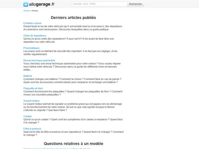 Capture d'écran du site encyclauto.fr