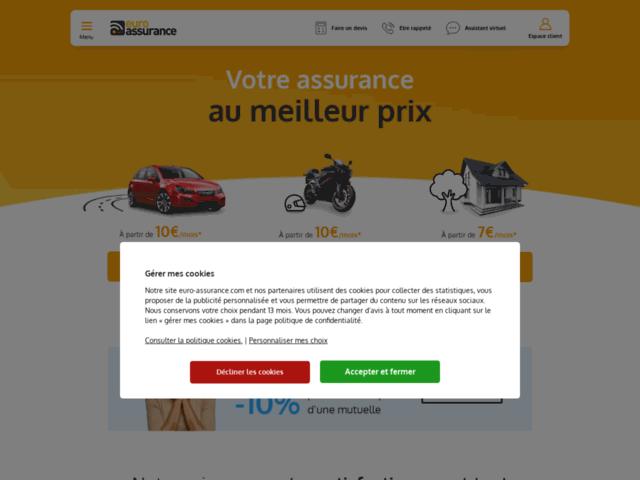 Capture d'écran du site auro-assurance.com