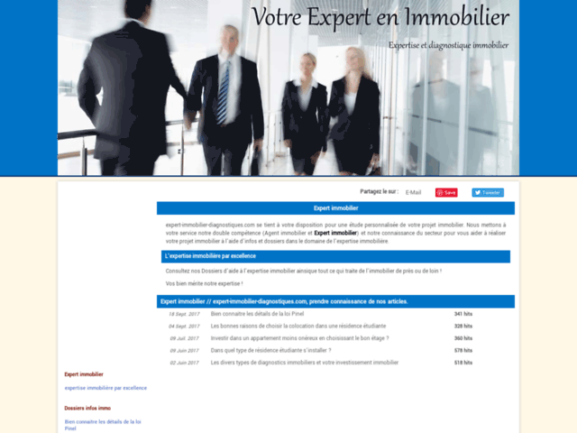 Expert immobilier dianostic
