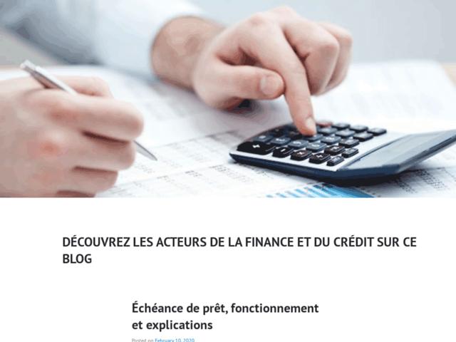 Crédit et finance : une page dédiée au monde du prêt