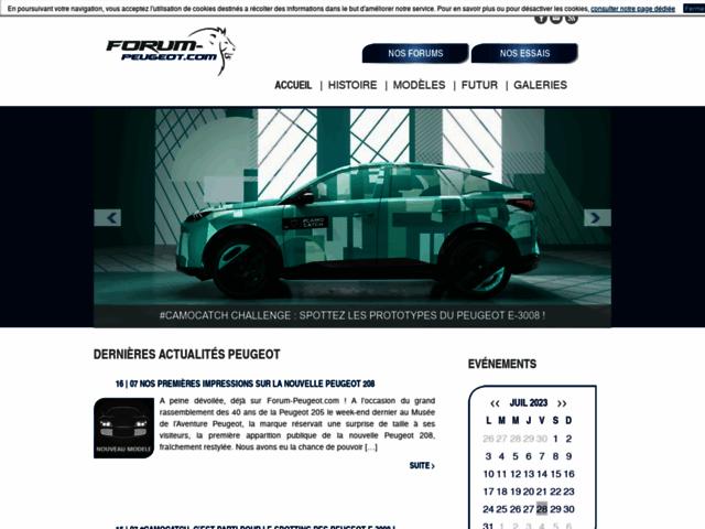 Capture d'écran du site forum-peugeot.com