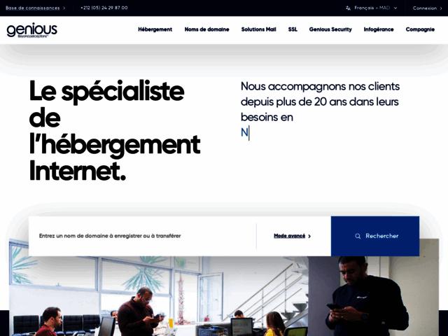 Hebergement web Maroc