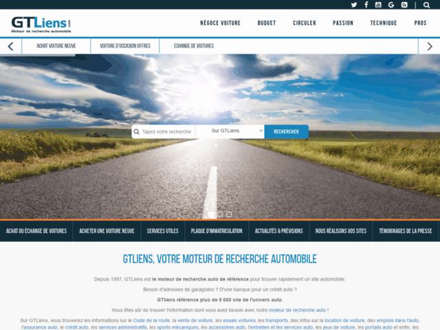 Capture d'écran du site gtliens.com