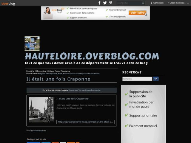 Un des meilleurs site sur la Haute-Loire