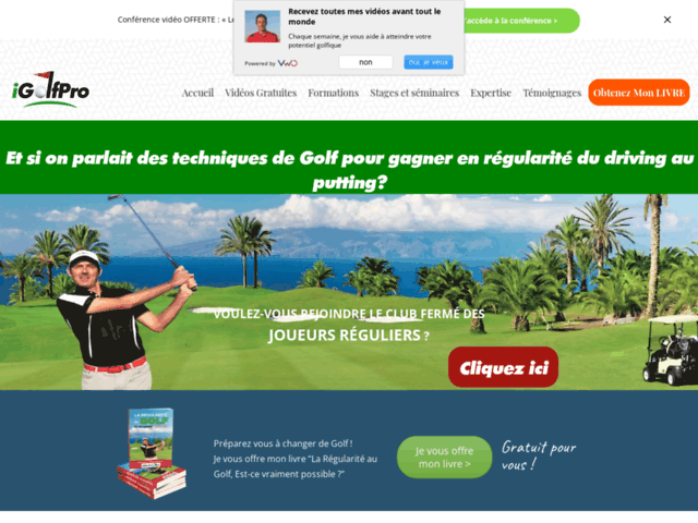 iGolfPro, cours de golf en ligne
