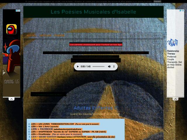 poesies musicales isabelle / ADULTES ENFANTES