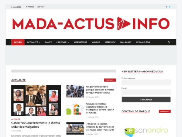 Mada Actus : Le blog généraliste à Madagascar